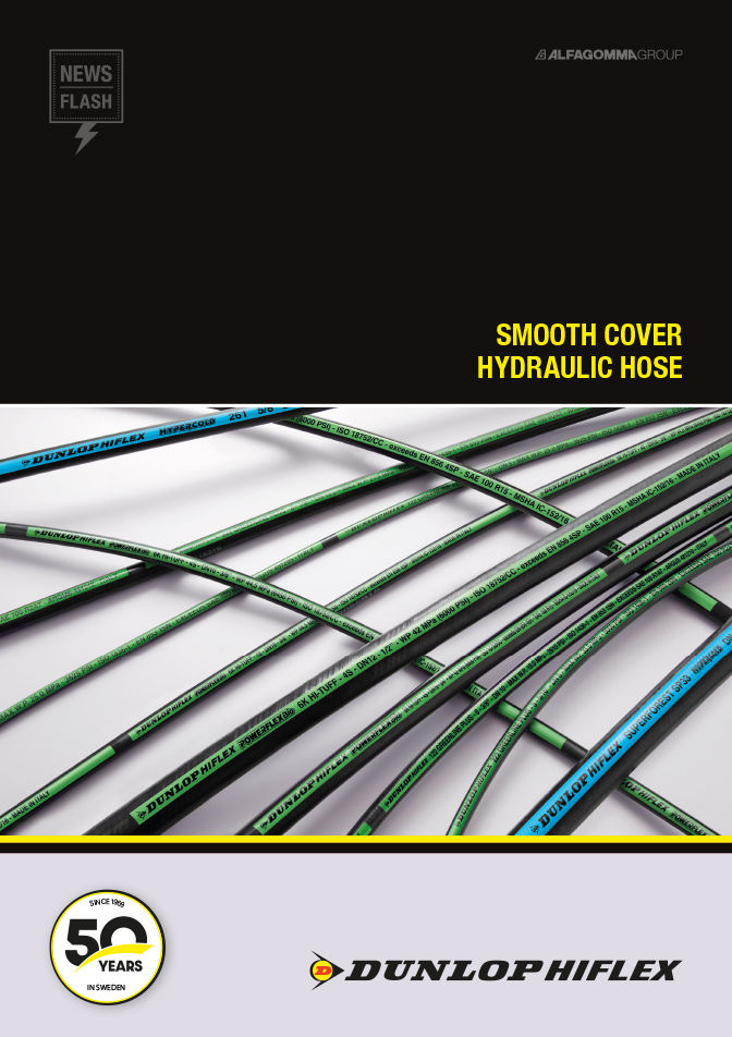 Smooth cover hydraulic hose